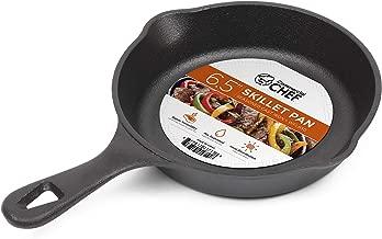 Commercial Chef CHFL650 6.5 Inch Skillet, Black