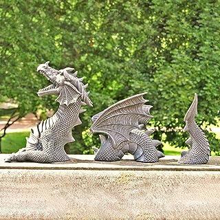 Garden Ornaments Design The Dragon of Castle Moat Lawn Garden Statue,Gothic Decorative Stone