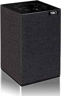 TIBO Choros Tap |Wi-Fi & Bluetooth Speaker with Alexa Built-in | Multi Room Hi-Fi Speaker with Internet Radio | Grey