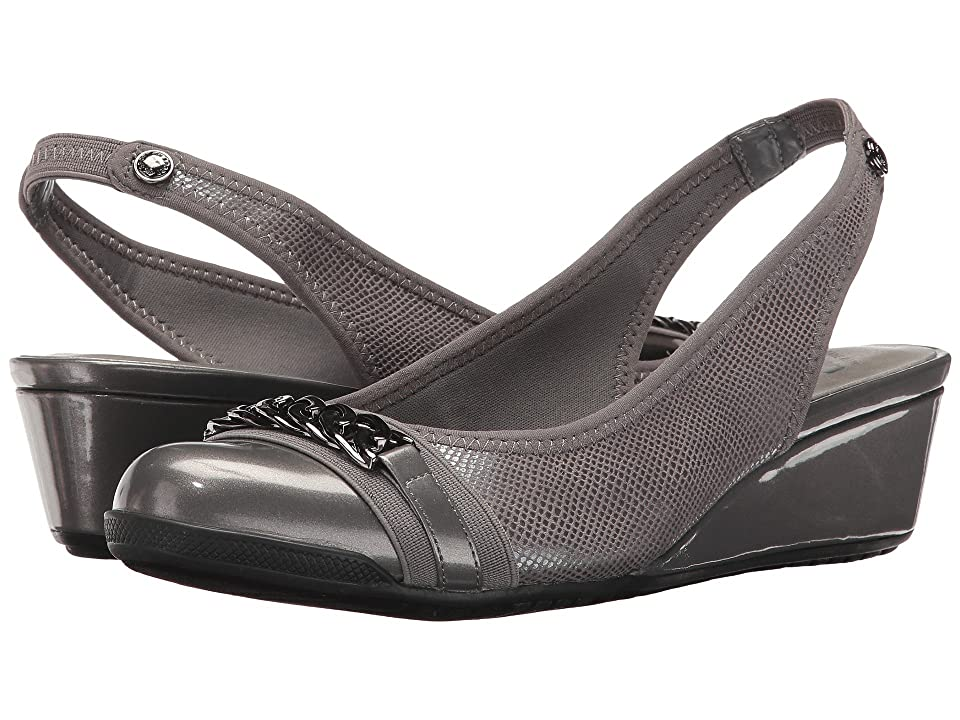 Anne Klein Curve (Pewter Fabric) Women