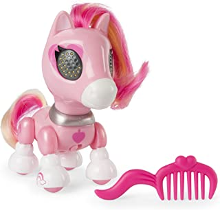 Zoomer Zupps Pretty Ponies, Sugar, Series 1 Interactive Pony with Lights, Sounds and Sensors