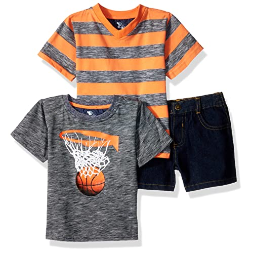 1641eec021f American Hawk Boys' 3 Piece Basketball, V-Neck T-Shirt, and
