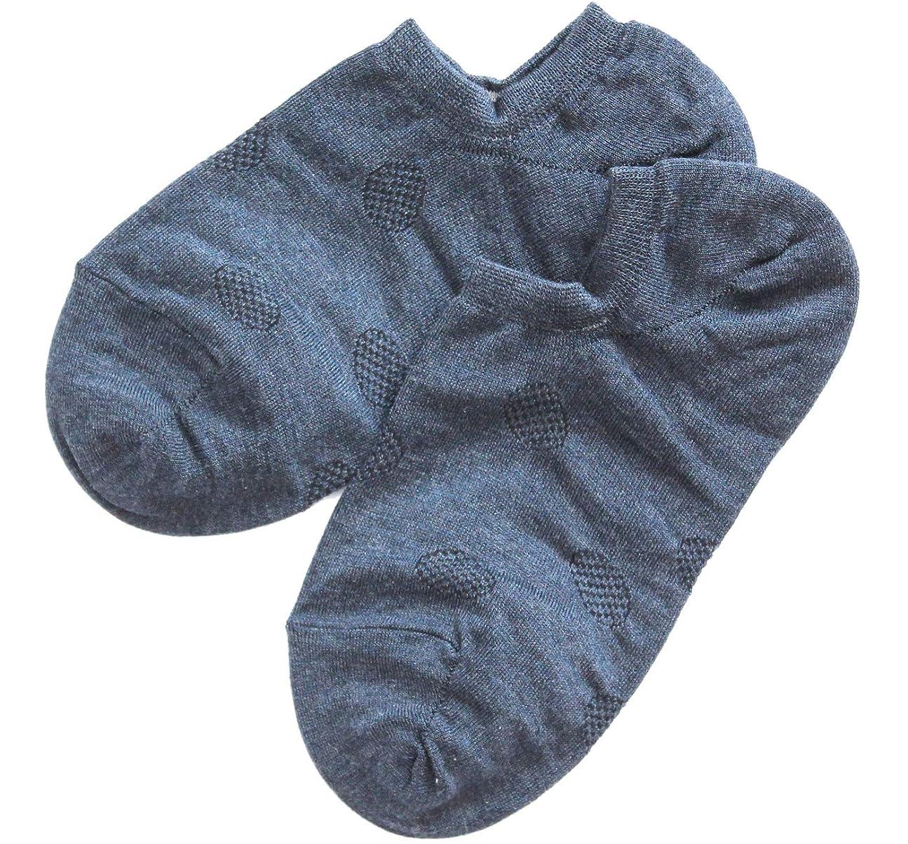 同様の区糸温むすび かかとケア靴下 【足うら美人カバーソックスタイプ 女性用 22~24cm ネイビー】 ひび割れ ケア 夏用