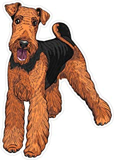 Dog Airedale Terrier 7x4.9 inches man's best friend puppy animal america united states murica color sticker state decal die cut vinyl - Made and Shipped in USA