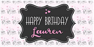 Sweet Paris Birthday Banner Personalized Party Backdrop Decoration