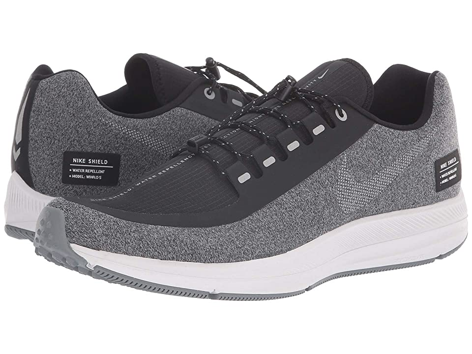 Nike Air Zoom WInflo 5 Run Shield (Black/Metallic Silver/Cool Grey) Men