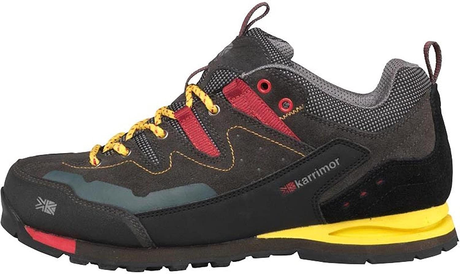 Designer ME Mens Karrimor KSB Tech Approach Hiking shoes Charcoal Yellow Guys Gents