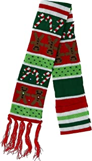 Lotsa Lites! Flashing Holiday Christmas Knitted Scarves (Gingerbread)