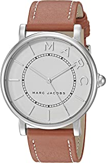 Women's Roxy Stainless Steel Japanese-Quartz Watch with Leather Calfskin Strap, Brown, 18 (Model: MJ1571)