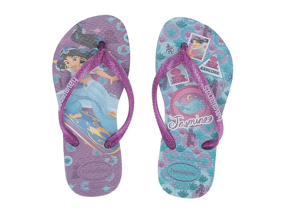 Havaianas Kids Slim Princess Flip Flops (Toddler/Little Kid/Big Kid) (Lavender) Girls Shoes