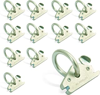 AFA Tooling E Track O Ring Tie Down Anchors 12-Pack - 7.000lbs BS Stainless Steel E Track Tie Downs Accessories - Robust Rustproof E-Tracks Hooks for Ratchet Straps and Motorcycle Tie Downs