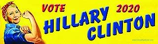 Vote Hillary Clinton 2020 Rosie the Riveter Style Bumper Sticker