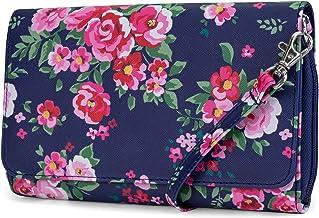 Mundi RFID Crossbody Bag For Women Anti Theft Travel Purse Handbag Wallet Vegan Leather (Royal Floral)