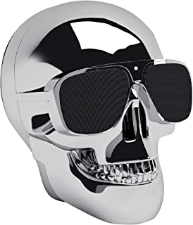 Jarre AeroSkull Nano Bluetooth Speaker for Smartphones, Chrome Silver - ML80110