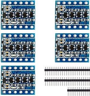 XCSOURCE® Módulo Convertidor de Nivel Lógico Bidireccional de 5V a 3.3V, 5 Unidades IIC I2C TE291