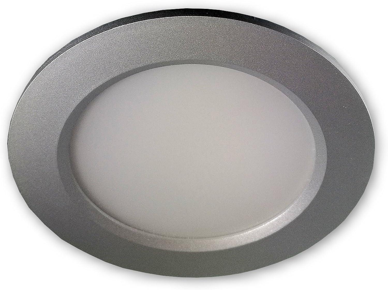 1 x 7W LED LM Dimmbar Farbe BiColor IP44 Einbauleuchte Neptun Eckig 3000K Warmwei/ß LED Bad Einbaustrahler 230V inkl