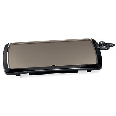 Presto 07055 Cool-Touch Electric Ceramic Griddle, 20 , Black