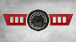 STV Motorsports Custom Aluminum Red Dash Panel for 2015-2018 Polaris RZR XP 900 with 6 Switch Openings (no switches included)