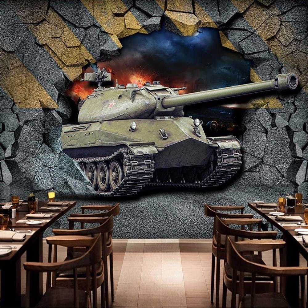 Mznm Custom Ranking TOP4 Mural Wallpaper Print Sale item Tank Wa Nostalgic Broken Retro