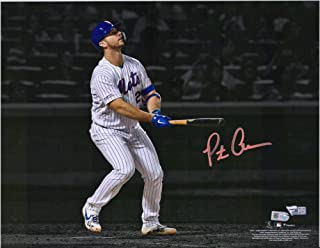 """Pete Alonso New York Mets Autographed 11"""" x 14"""" Watching Rookie Record Home Run #53 Spotlight Photograph - Fanatics Authentic Certified"""