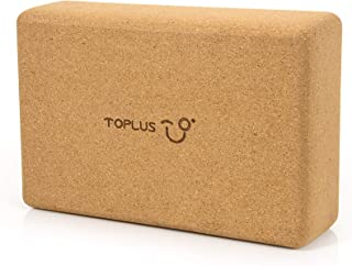 TOPLUS Yoga block för nybörjare och avancerad av 100 % naturlig kork, korkblock Yogablock kork för fitness yoga & pilates...