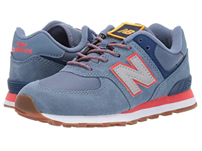 New Balance Kids Camp 574 (Little Kid) (Chambray/Coral Glow) Boys Shoes