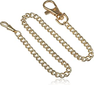 Charles-Hubert, Paris 3548-G Stainless Steel Gold-Plated Pocket Watch Chain