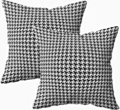 Musesh Watercolor Pillow Cases, Pack of 2 Houndstooth Pattern for Sofa Home Decorative Pillowcase 18X18Inch Pillow Covers