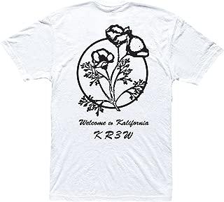 Kr3w Mens KALIFORNIA REG S/S WHITE Short Sleeve Tshirt SIZE XL