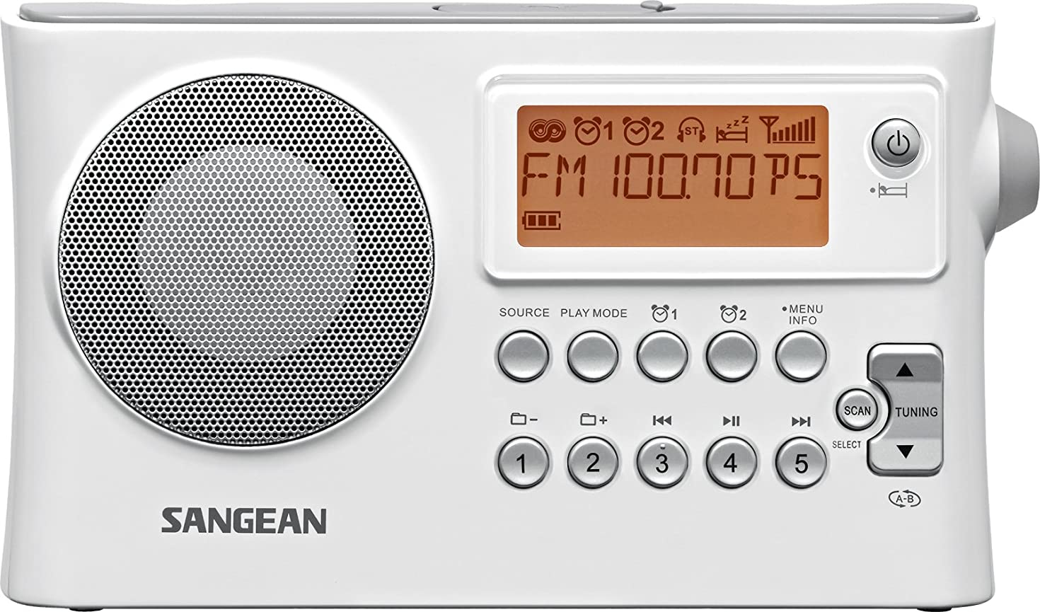 Sangean PR-D14 AM / FM-RDS Portable Radio with USB MP3 / WMA Playback