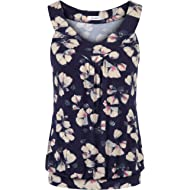 Sixother Womens Tank Tops V Neck Tops Cami Shirts Peated Flowy Tunics for Summer