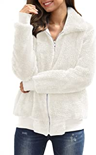 For G and PL Women's Fleece Zipper Front Long Sleeve Teddy Bear Coat with Pocket
