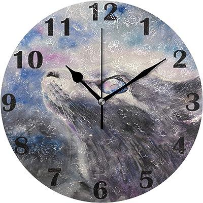 Dark Night Sky Stars Wall Clock Home Office Bedroom Living Room Kitchen Decor