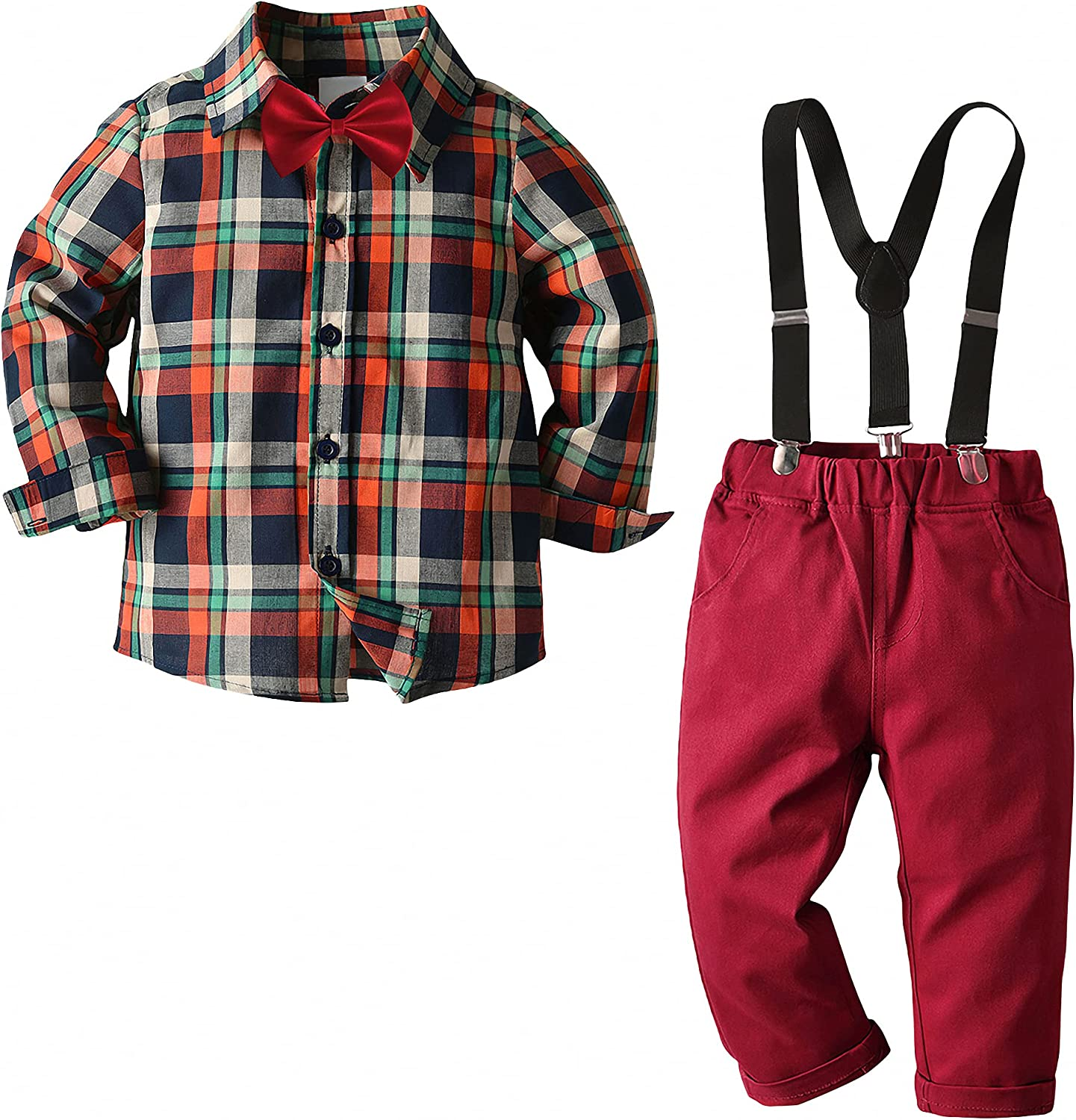 Nwada Boys Clothing Sets Max 89% OFF Kids Party Suits Dealing full price reduction Bow Sleeve Long 4PCS T