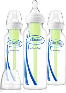 Dr. Brown's Options Narrow, 3 Pack, clear, 8 ounce, SB83005-P3