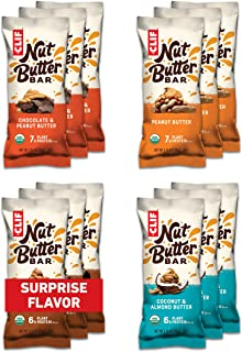 CLIF Nut Butter Bar - Organic Snack Bars - Variety Pack (1.76 Ounce Protein Snack Bars, 12 Count) (Flavors and Packaging M...