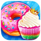 Make Cupcake & Donut - Rainbow Princess Bakery Education Game