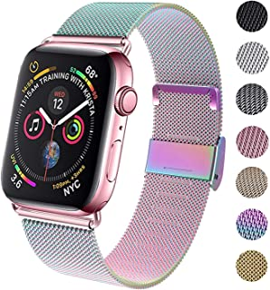 GBPOOT Compatible for Apple Watch Band 38mm 40mm 42mm 44mm, Wristband Loop Replacement Band for...