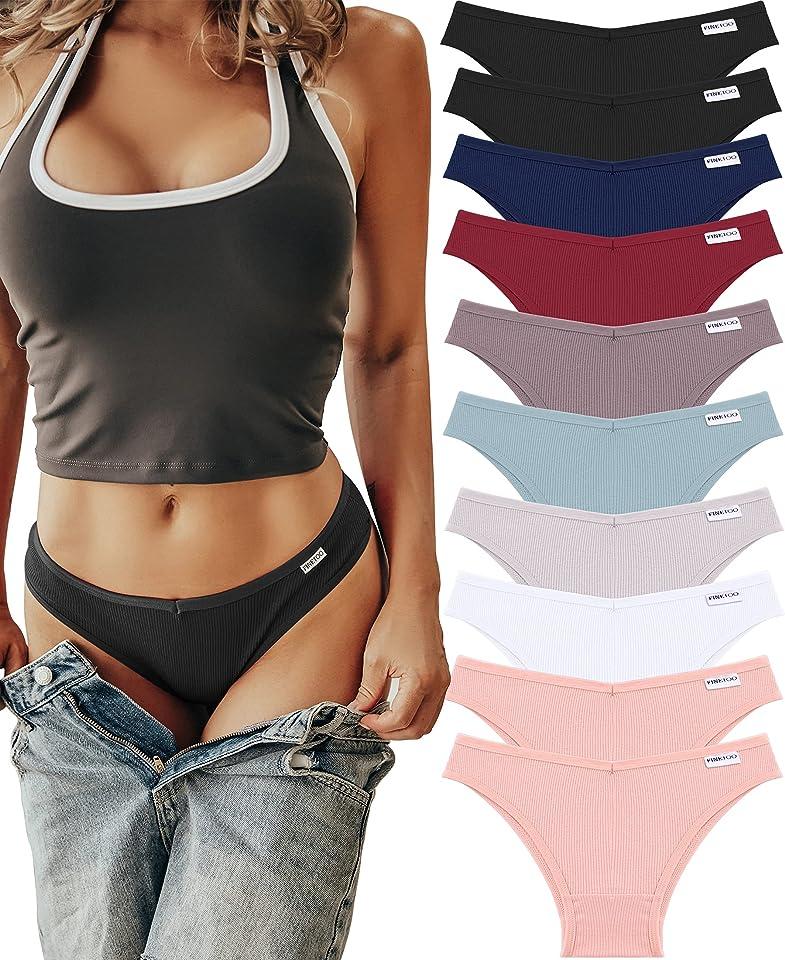 10er Ladies Pants Sexy Lingerie Cotton Briefs Shorts Tangas Brazilian Knickers Soft Bikinis for Women Seamless Underwear Set Multipack