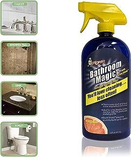 Multi Purpose Gel Bathroom Cleaner: Chomp Bathroom Magic Gel Spray - Hard Water Stain, Soap Scum, Lime Scale, Grime Remover for Shower Door, Toilet Bowl, Bath Tub, Tile, Grout - Grapefruit, 22 Fl Oz