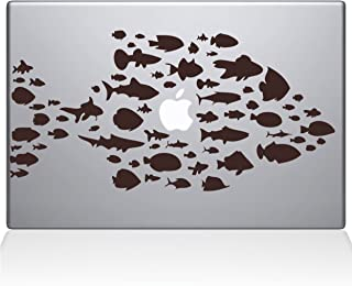 "The Decal Guru Swim with The Fishes Vinyl Sticker, 15"" MacBook Pro (2016 & Newer) 15"" Macbook Pro (2016 & newer) brown 014..."