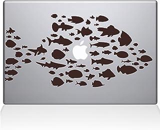 "The Decal Guru Swim with The Fishes Vinyl Sticker, 15"" MacBook Pro (2016 & Newer) 15"" Macbook Pro (2016 & newer) brown 014..."