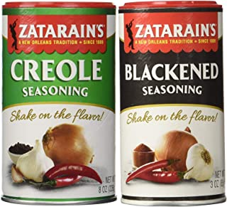 Zatarain's Cajun Creole Seasoning Bundle - 1 each of Original Creole Seasoning 8 Ounces and Blackened Seasoning 3 Ounces