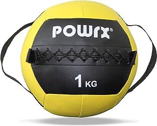 comprar comparacion POWRX Wall Ball con Asas Laterales 1-8 kg - Ideal para Ejercicios de »Functional Fitness«, fortalecimiento y tonificación ...