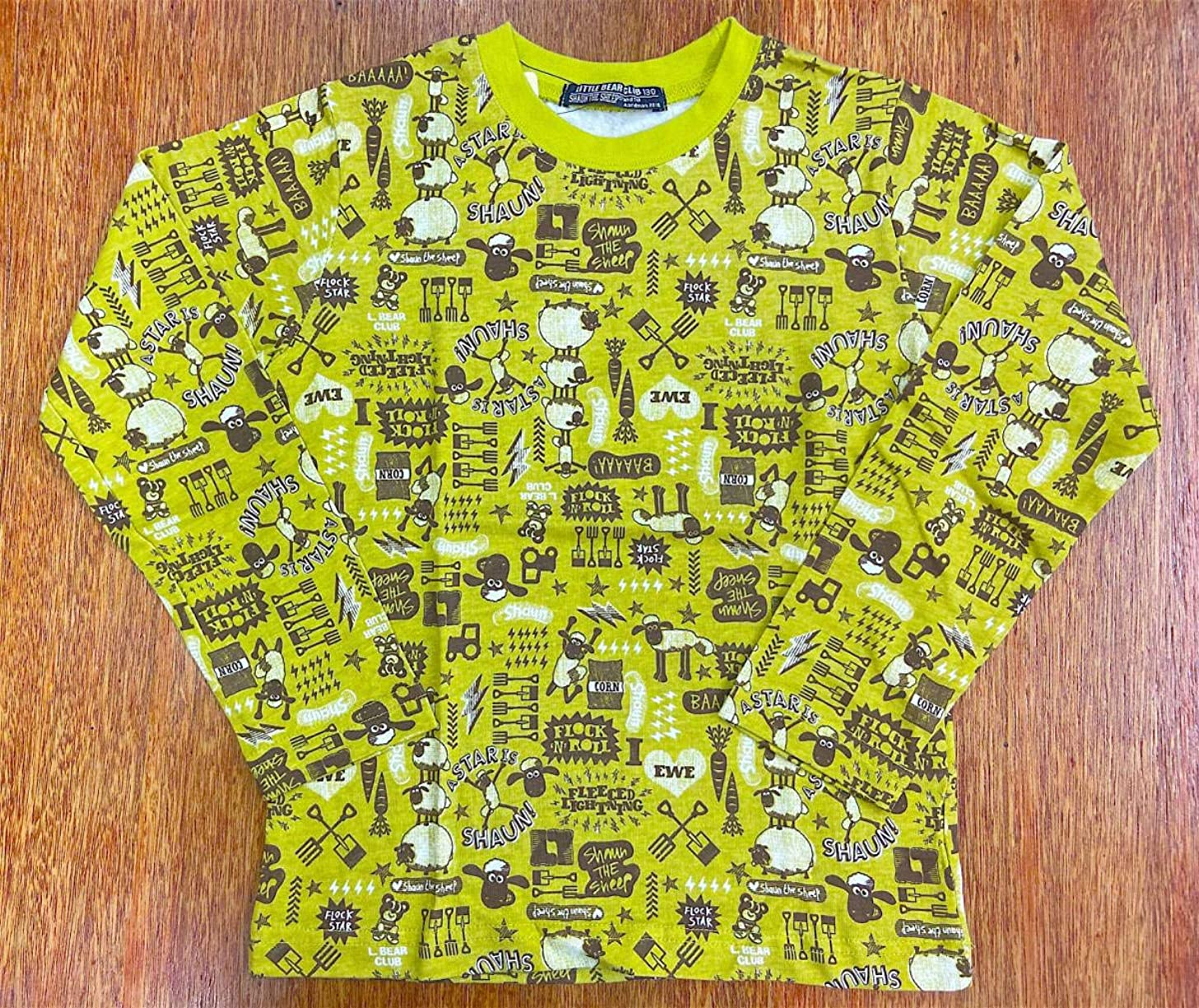 スペアホイットニー血統タグ付き ひつじのショーン 男児LITTLE BEAR CLUB リトルベアークラブ 総柄 長袖Tシャツ/be130cm(9-10才目安)¥2200