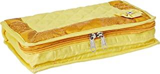 Amazon Brand - Solimo Quilted Jewellery Kit, Yellow