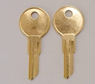 Pair of 2 -Replacement Keys for Code 001 002 003 004 005 Husky Tool Box (Husky only) Home Depot. Keys pre Cut to Code by keys22 (005 Husky)
