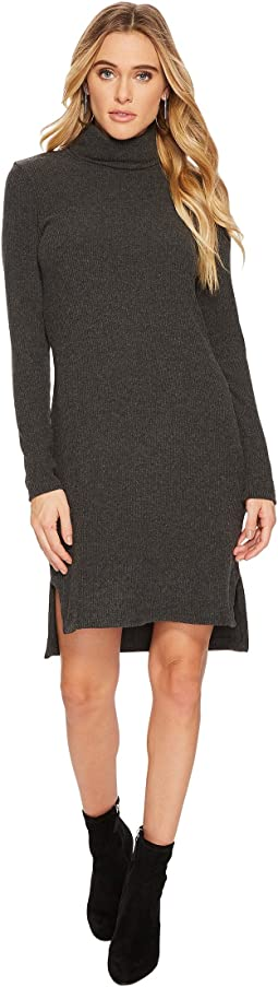 HEATHER - Ava Rib T-Neck Dress