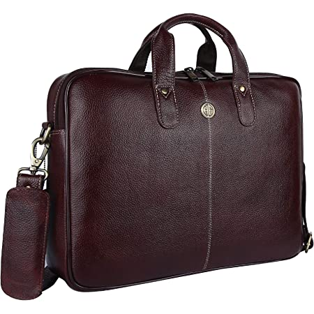 Hammonds Flycatcher Original Bombay Brown Leather 15.6 inch Laptop Messenger Bag|Padded Laptop Compartment|Office Bag (L=15.6,B=3.75,H=10.75 inch) LB106BR