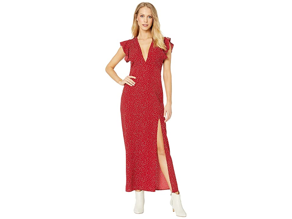 Amuse Society Keepin It Frill Dress (Crimson) Women
